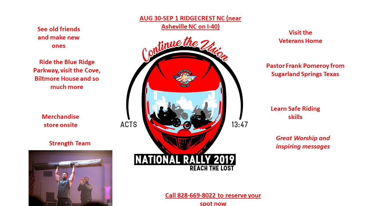 NATIONAL RALLY FLYER 8-30-19